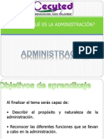 Que Es La Admin is Trac Ion