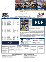 Week 9 - Rams at Cardinals