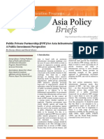Public Private  Partnership (PPP) for Asian Infrastructure