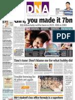 DNA 1st Nov Front Page