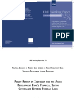 Policy Reform in Indonesia and the Asian Development Bank's Financial Sector Governance Reforms Program Loan (George Abonyi, 2005)