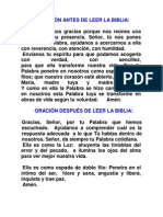 ORACIÓN ANTES DE LEER LA BIBLIA