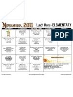 Elem Lunch Menu Nov 11
