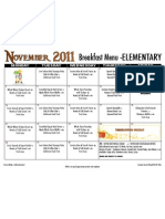 Elem Breakfast Menu Nov 11