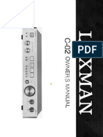 Luxman C-02 Owners Manual