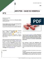 Guida al computer - Quiz di verifica n°2
