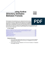 Restructuring Active Directory Domains Between Forests