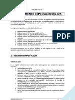LOS REGIMENES ESPECIALES DEL IVA