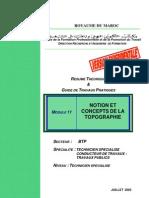 26403436m11 Notions Et Concepts de La Topographie Btp Tsct PDF