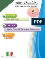 Lecture 5, Amaglam Restoration