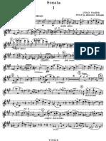 Franck Violin Sonata Violin