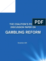11-11-02 Coalition Discussion Paper on Gambling Reform
