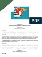 CONSTITUCIÓN ESPAÑOLA DE 1978 organización territorial 1978