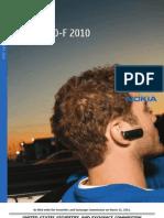SEC Form 20 F 2010 (Nokia)