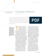 Listening to Patients