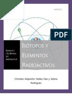Isótopos y Elementos Radioactivos