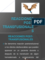 Reacciones Post Transfusion Ales