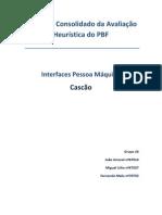 Relatório Consolidado da Avaliação Heurística do PBF