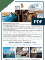 Singapore Airlines EarlyBird Business Class Flyer