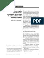Gofin Atencion Primaria Basada en La Comunidad Rev Pam Salud Pub 2007