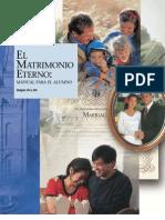 EL MATRIMONIO ETERNO - Manual Del Alumno de Instituto