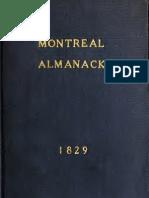 Montreal Almanack 1829