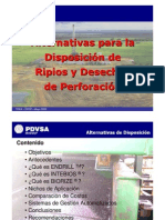 Alternativas para la Disposición de Ripios y Desechos de Perforación