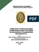 Analisis Economico - Taladros Largos