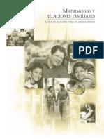 MATRIMONIO Y RELACIONES FAMILIARES - Manual Alumno