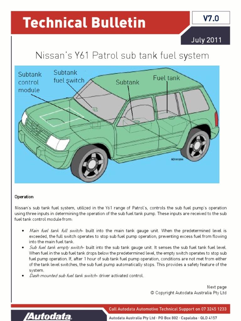 Sub Tank Fuel System | Switch | Electronics