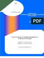 Evaluacion de Un Aderezo Cremoso a Base de Lactosuero