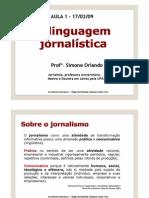 A Linguagem Jornalistica