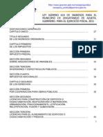 Ley de Ingresos 2011 Zihuatanejo de Azueta
