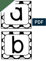 Black Polka Letters