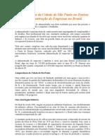 A Importância Da Cidade de São Paulo No Ensino de Administração de Empresas No Brasil