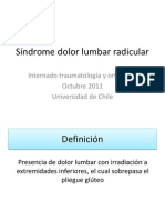 Síndrome dolor lumbar radicular y SCNI