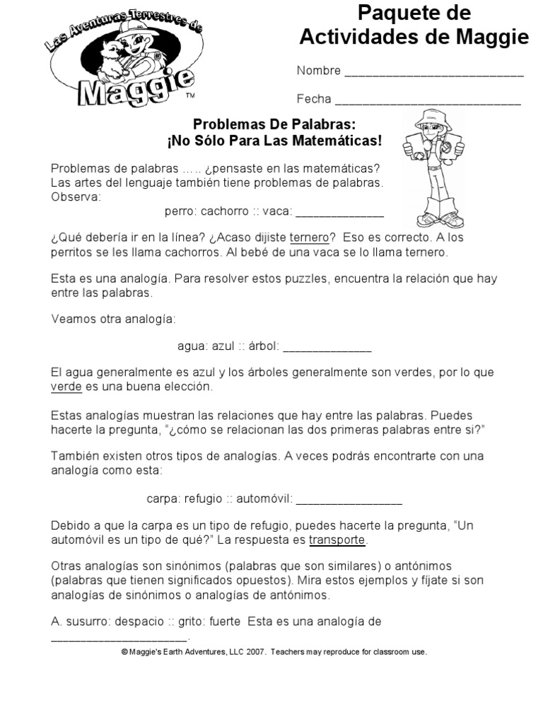 Magnífico 3er Grado Problemas De Palabras Hojas De Trabajo Patrón ...