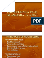 Counselling a Case of Anaemia in a Phc