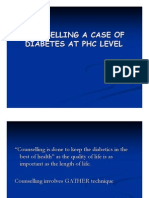 Counselling a Case of Diabetes at Phc Level