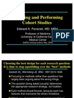 Panacek Design and Performing Cohort Studies