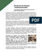 Elaboracion de Bloques Multinutricionales[1]