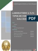 Laboratorio, Corrosión galvanica