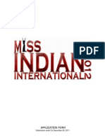 Miss Indian International 2012 - Application Form