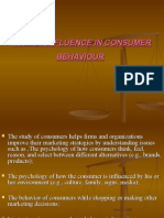 Family Influence and Consumer Bahavior