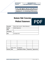 Bottom Slab Method Statement