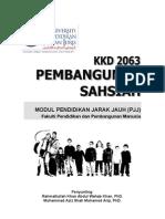 KKD 2063 Pembangunan Sahsiah