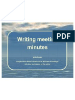 Writing Minutes