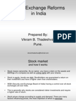 Stock Exchange Reforms in India 1221566663857333 9