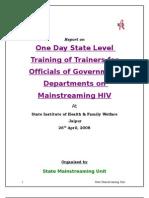 Report of Govt