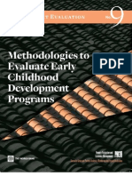 methodologies to evaluate early childhood development programs